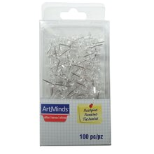 ArtMinds Pushpins, Clear