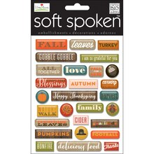 MAMBI Soft Spoken Stickers, Fall Leaves Pebbles