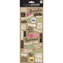 mambiSTICKS Stickers, Doodle Words Best Friends