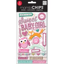 mambiCHIPS Chipboard Stickers, Sweet Baby Girl