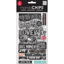 mambiCHIPS Chipboard Stickers, Sweet Memories