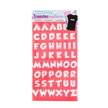 transfermations iron on letters instructions