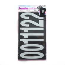 """Transfermations Iron-On 5"""" Numbers, White"""