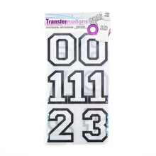 Transfermations™ Iron-On Flocked Black & White Numbers