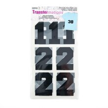 Transfermations Iron-On Flocked Athletic Numbers, 3""