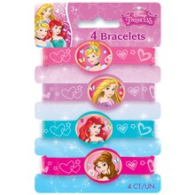 Dream Disney Princess Rubber Bracelets, 4ct
