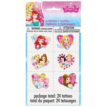 Dream Disney Princess Tattoo Sheets, 4ct