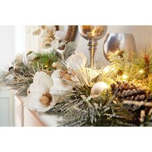 Frost Mantel Garland, medium