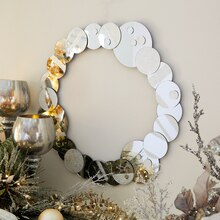 Frost Mirror Wreath, medium