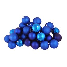"2.5"" Shatterproof 4-Finish Christmas Ball Ornaments, 60ct., Lavish Blue"