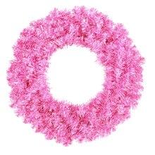 Sparkling Hot Pink Artificial Christmas Wreath - Unlit