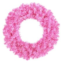 Sparkling Hot Pink Artificial Christmas Wreath - Unlit