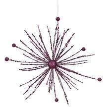 Purple Passion Glitter Sparkle Starburst Snowflake Christmas Ornament