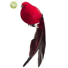 Long Tail Feathered Clip-On Bird Christmas Ornament