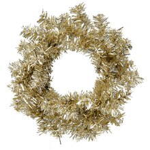 Mini Champagne Artificial Tinsel Christmas Wreath