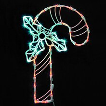 Lighted LED Candy Cane Christmas Window Silhouette Decoration