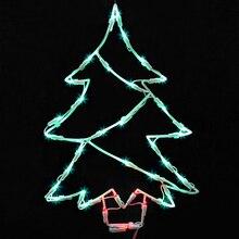 Lighted LED Christmas Tree Window Silhouette Decoration