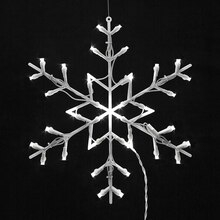 Lighted LED Snowflake Christmas Window Silhouette Decoration