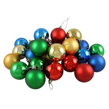 Matte/Shiny Primary Color Shatterproof Christmas Ball Ornaments