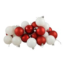 Candy Cane Shatterproof 4-Finish Christmas Ball Ornaments