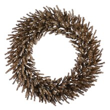 Sparkling Chocolate Brown Artificial Christmas Wreath