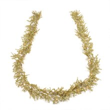 Pre-Lit Gold Artificial Tinsel Christmas Garland - Clear Lights