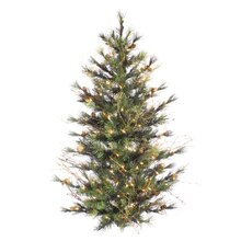 Pre-Lit Mixed Country Pine Artificial Christmas Wall Tree
