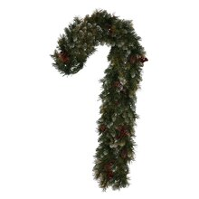Frosted Ashberry Pine Artificial Candy Cane Christmas Decoration