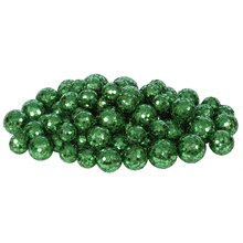 Sequin and Glitter Christmas Ball Decorations, Emerald Green