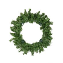 Two-Tone Pine Artificial Christmas Advent Wreath - Holds 4 Taper Candles