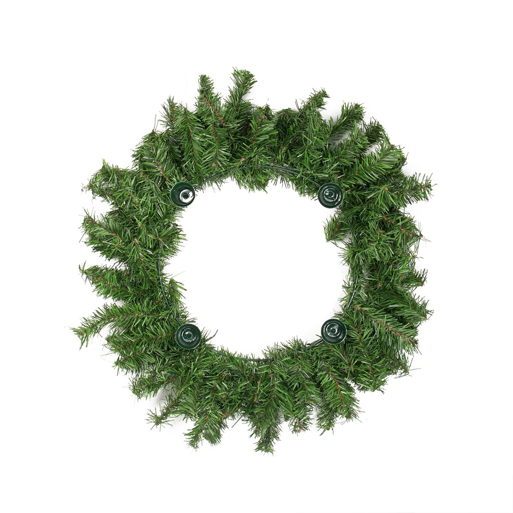 18 Two Tone Pine Artificial Christmas Advent Wreath