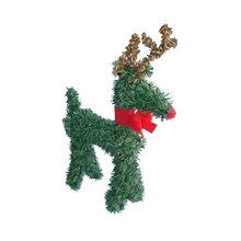 Rudolph the Red-Nosed Reindeer with Bow Artificial Pine Christmas Figurine