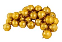 "2.5"" Shiny Shatterproof Christmas Ball Ornaments, Antique Gold"