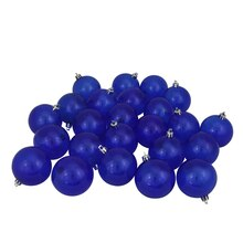 "2.5"" Transparent Shatterproof Christmas Ball Ornaments, Blue"