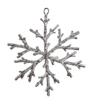 Country Rustic Snowflake Christmas Ornament