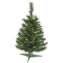 2 ft. Pre-Lit Imperial Pine Artificial Christmas Tree, Clear Lights