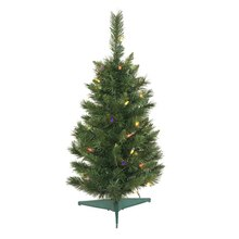 2 ft. Pre-lit Imperial Pine Artificial Christmas Tree, Multi Lights