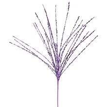 "24"" Sparkling Purple Glitter and Sequin Grass Christmas Spray"