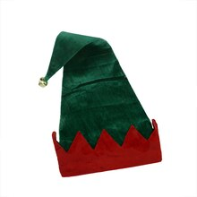 Velvet Jester Elf Hat with Jingle Bell