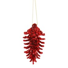 Red Shatterproof Christmas Pinecone Ornaments