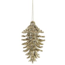 Shatterproof Christmas Pinecone Ornaments, Gold
