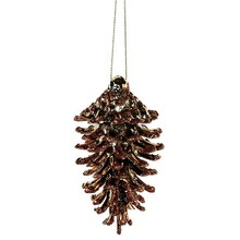 Shatterproof Christmas Pinecone Ornaments, Copper