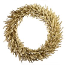 """Sparkling Champagne Artificial Christmas Wreath, 30"""""""