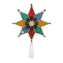8-Point Multicolor Star Christmas Tree Topper Decoration