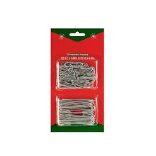 Silver Metal Christmas Ornament Hook Assortment, 200 Pc.