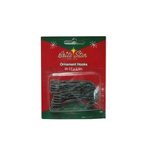 "2.5"" Green Metal Christmas Ornament Hooks, 50 Pc."