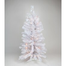 Pre-lit White Iridescent Pine Artificial Christmas Tree - Clear Lights