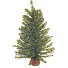 """18"""" Mixed Pine Christmas Tree with Wood Base & 192 Tips"""