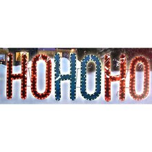 "Lighted Gel ""HO HO HO"" Christmas Yard Art Sculpture"
