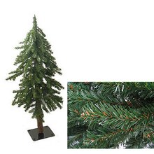 3 ft. Downswept Woodland Alpine Artificial Christmas Tree, Unlit, With Close Up